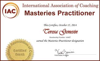 IAC Masteries Practitioner Teresa Genesin