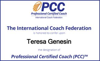 Professional Certified Coach - Teresa Genesin
